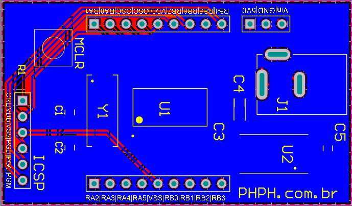 16F628A PCB Bottom Layer