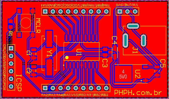 16F628A PCB Top Layer