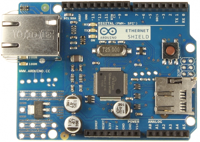 Módulo shield Arduino Ethernet R3 Optimized